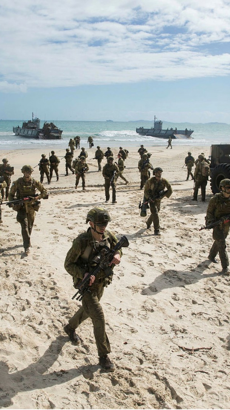 Soliders on a beach